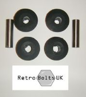 Front Anti Tramp Bar  - Black Polyurethane Bushes PAIR - Mk2 Escort